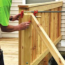 Deck Stair Handrail Kitchen Brilliant Building Deck Railings Howtospecialist How To