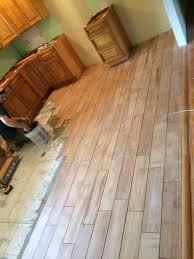 Ceramic Tile Flooring by Wood Tile Flooring In Farmhouse Kitchen Remodel Gbi Tile