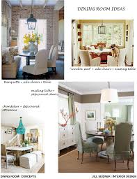Jill Seidner Interior Design Online by Concept Board For A Dining Area Love The Brick Wall And