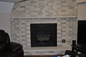 grey brick fireplace decorating idea inexpensive fresh on grey