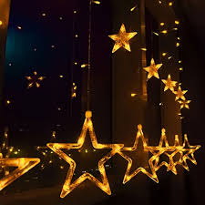 eve drop christmas lights 3m waterproof drop led star curtain string light christmas new year