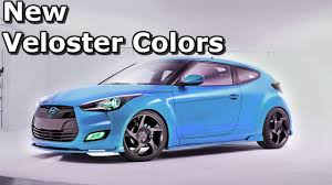 hyundai veloster turbo colors colors unveiled for hyundai veloster