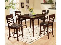 Dining Room Pub Table Sets Lifestyle Dc192 5 Piece Pub Table Set With Ladder Back Pub Chairs