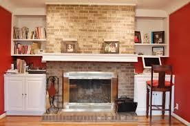 decorate a brick fireplace mantelfarmhouses u0026 fireplaces