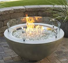 Glass Firepit Pit Glass Wind Guards From The Outdoor Great Room