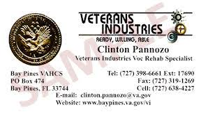 business cards veterans industries bay pines va healthcare system