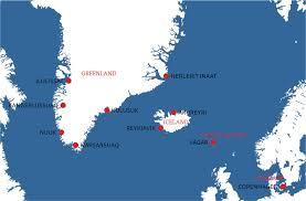 Greenland Map Muskox Hunting Musk Ox Hunting