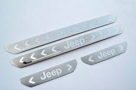 jeep cherokee logo jeep cherokee kl stainless door sill panel scuff plate kick step