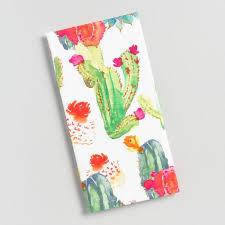 asian cactus ring holder images Watercolor cactus print kitchen towel world market tif&a
