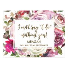 Cute Will You Be My Bridesmaid Ideas Will You Be My Bridesmaid Postcards Zazzle