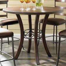hillsdale cameron dining table hillsdale cameron round wood counter height table olinde s