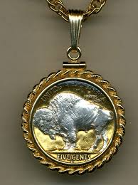 silver coin jewelry necklace images Silver on gold buffalo nickel white buffalo necklace jpg