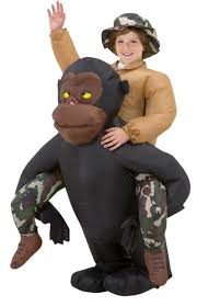 boy u0027s inflatable riding gorilla kids costumes