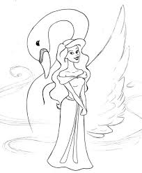 coloring pages swan princess coloring pages swan princess