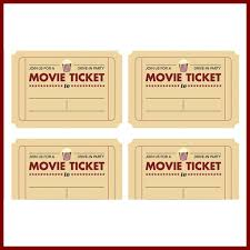 movie ticket template free 40 free editable raffle movie ticket