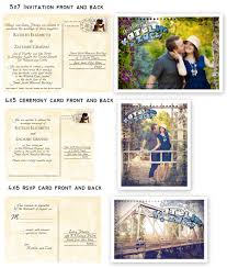 Wedding Invitations Kerry Postcard Wedding Invitations Cloveranddot Com