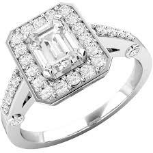 inel diamant inel cocktail inel de logodna cu diamante dama aur alb 18kt cu