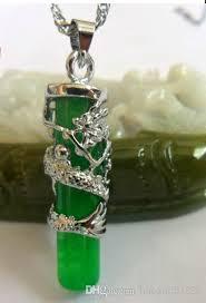 dragon glass pendant necklace images Wholesale the new 2014 cylinder dragon stone pendant necklace jpg
