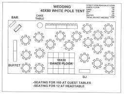 tent layout 150 to 200 people