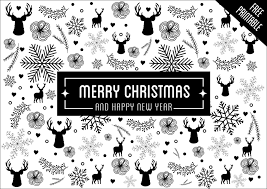 black christmas cards black and white christmas cards by belivin design