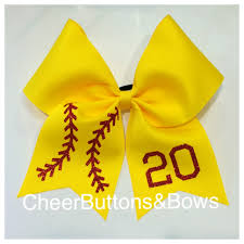 softball hair bows custom softball bows fastpitch personalized team bows