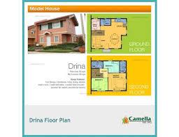 Camella Homes Drina Floor Plan U20b1 4 360 765 Camella Del Rio Drina House Model House U0026 Lot