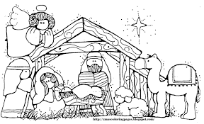 nativity coloring pages precious moments