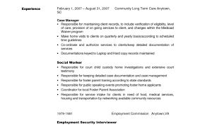 foster care social worker cover letter resume activities exles
