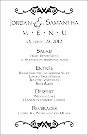 wedding menu templates wedding menu templates and easy menus for your big day