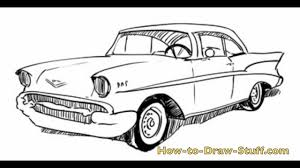 classic cars drawings how to draw a 57 chevy step by step youtube