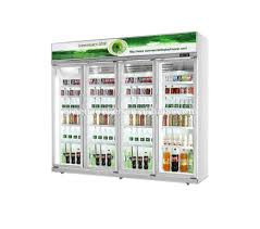 fridge freezer glass door gas station glass door display fridge beverage upright