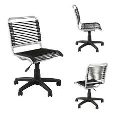 Office Rolling Chairs Design Ideas Furniture Contemporary Armless Black Bungee Office Rolling Chair