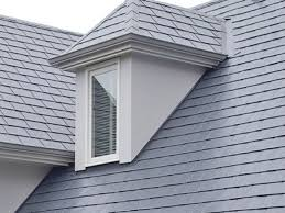 Tile Roof Types Exterior Clear Glass Window Design Ideas With Gray Tile Roof And