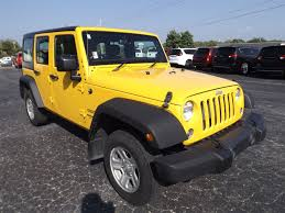 yellow jeep wrangler unlimited 2015 jeep wrangler unlimited sport rhd for sale 24 used cars