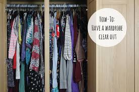 how to have a wardrobe clear out a beauty junkie in london