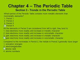 Period 3 Periodic Table Chapter 4 The Periodic Table Ppt Video Online Download