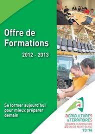 chambre d agriculture savoie calaméo offre de formations 2012 2013 de la chambre d