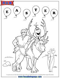 frozen sven olaf kristoff easter coloring u0026
