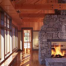jackson wyoming united states see through fireplace living room