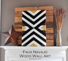 diy aztec pattern wall art made in a day