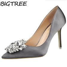 gray wedding shoes bigtree silver gray black bridal wedding shoes faux silk