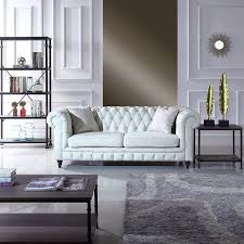 Real Chesterfield Sofa by Amazon Com Classic Scroll Arm Real Italian Leather Chesterfield