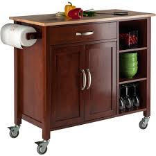 kitchen cart cabinet winsome mabel two tone kitchen cart walmart com