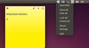 installer post it sur bureau how to install sticky notes indicator in ubuntu 14 10 ubuntuhandbook