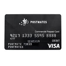 pre paid card postmates prepaid card