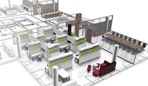 plan des bureaux conseils en aménagement de bureau 3d open space cloisons