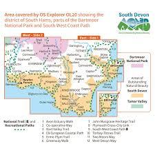 Dart Map Os Explorer Leisure Map Ol20 South Devon Active
