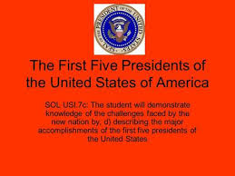 first five presidents the first five american presidents ppt video online download