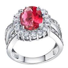 jewelry images rings images Women jewelry ring silver plated red gems couple rings wedding jpg