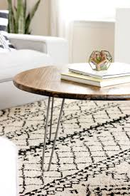 hairpin leg coffee table round diy coffee table hairpin legs best gallery of tables furniture